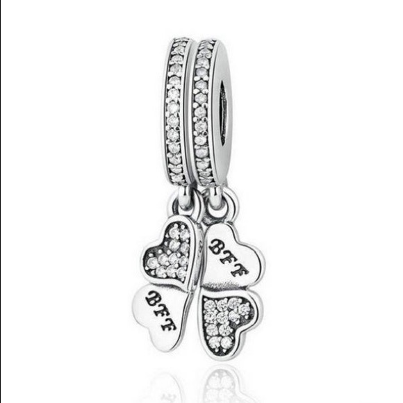 Pandora Sterling Silver BFF Hearts Charm